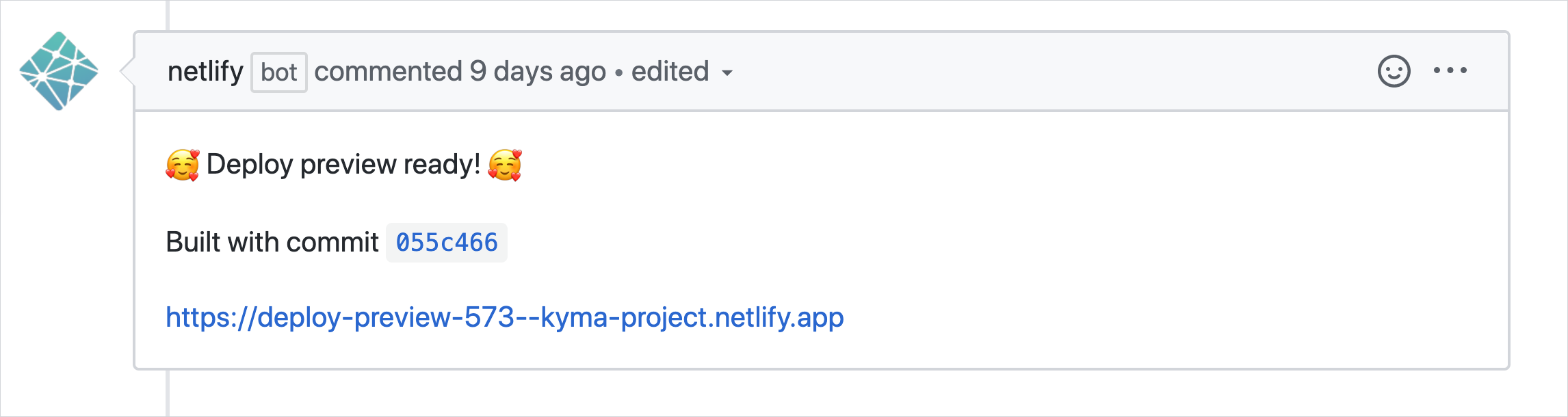 Successful preview build on a pull request